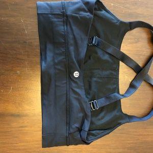 lululemon athletica Tops - Lululemon Convertible Strap Black Sports Bra Sz 8